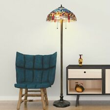 Tiffany Style Lamps Stained Glass Floor Lamp Decorative Light Fixtures Reading