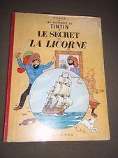 """BD """"TINTIN - LE SECRET DE LA LICORNE"""" HERGé (1962) B 32"""