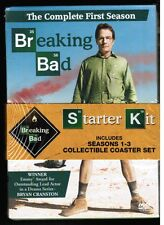 AMC's BREAKING BAD / STARTER KIT [11 DVDs, 2015] NEW! w/ 6 collectible coasters