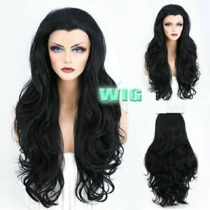 Fashion Wigs Long Black Natural Curly Wavy Wig Hair Heat Resistant Free Shipping