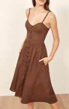 NWT $198.00 Reformation Thelma Dress, Size 4 Brownish Dress SOLD OUT