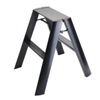 Hasegawa Aluminum Step Stool METAPHYS lucano Two-Steps Blk Fast Ship Japan EMS