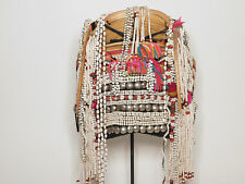 ORIGINAL VINTAGE AKHA HILL TRIBE USED TRADITIONAL WOMEN HEADDRESS FROM NORTHER T