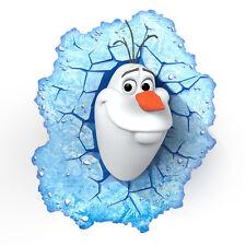 DISNEY FROZEN OLAF 3D DECO LED WALL LIGHT NIGHTLAMP Creasing To Box