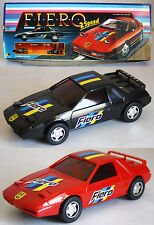 """1 X VERY RARE VINTAGE 80'S PONTIAC FIERO 6.5"""" PULL BACK CAR 2 SPEED NEW FROM BOX"""