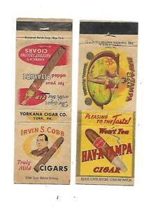 2 Cigar  Matchcovers        Irvin S. Cobb & Hav-A-Tampa