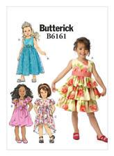 Butterick Sewing pattern B6161 SZ 2-5 Girls' Easy Gathered-Waist Dresses 4 Style