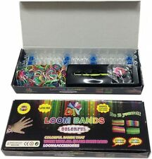 Loom Bands Rainbow Colourful Bracelet Making Set for DIY Crafting Weaving 600pcs
