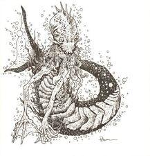 Water Monster RPG Art - Signed art by David Petersen Comic Art