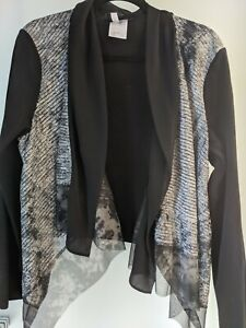 APRIORI SIZE 16 CARDIGAN 95% COTTON/5% ELASTAN  SEQUINNED FRONT UNUSUAL AS NEW