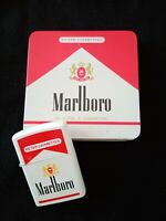 MARLBORO CIGARETTE LOT LIGHTER  + CASE OLD STOCK 1990s UNUSED!!!