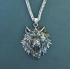 Norse Viking Odin's Wolf Geri/Freki Stainless Steel Necklace