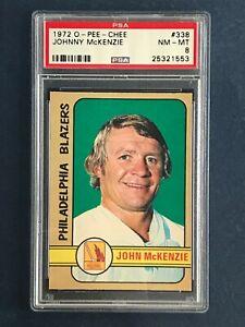 JOHNNY McKENZIE 1972-73 O-PEE-CHEE WHA 72-73 NO 338 PSA 8  48044