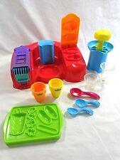 Play Doh Ice Cream Play Set 10 Pieces Sundae Scoop Cone Popsicle 2003