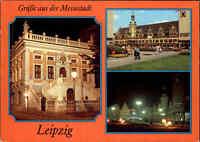 LEIPZIG Sachsen DDR Postkarte 1983 Messestadt, Altes Rathaus, Markt Mehrbild-AK