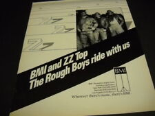 ZZ TOP The Rough Boys Ride With us... original 1986 PROMO POSTER AD mint cond