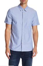JOE'S JEANS Men's NAVY Short Sleeve Oxford Woven Regular Fit Shirt XL $148 MSRP