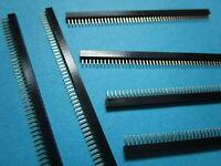 12 pcs Pitch 1.0mm 1x50 50pin Breakable Pin Header Female Single Row Strip New