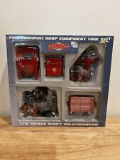 G.M.P 1/18 scale Professional Shop Equipment Tool Set Part #G1800145 Rare Model