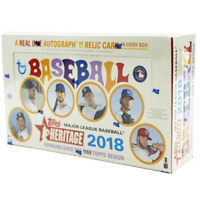 2018 TOPPS HERITAGE BASEBALL SEALED HOBBY BOX IN STOCK FREE SHIPPING