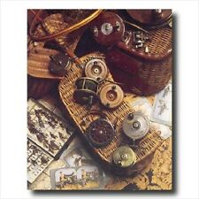 Fly Fishing Rod Antique Reels Lures Wall Picture Art Print
