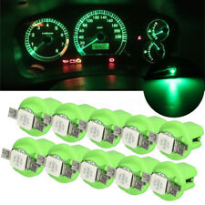 10x T5 B8.4D 5050 1SMD Car LED Dashboard Dash Gauge Instrument Light Bulbs Green