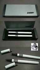 Lamy Design design pens ballpoint or rollerball in white  #