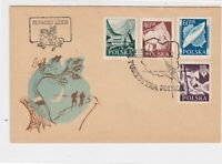 Poland 1956 Tourism of Poland Walking Compass Cancel FDC Stamps Cover Ref 23058