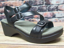 Dansko Sacha Burnished Calf Black Leather Sandal  *9851-020200