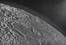 1960 Lunar Moon Map Photo Bailly E8-a Mount Wilson Observatory Plate W171 Crater