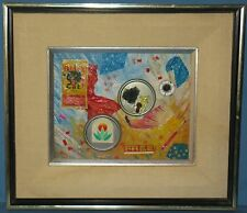 """VINTAGE COLLAGE ON ACADEMY BOARD """"4TH OF JULY"""" FRAMED UNSIGNED SCOTT(ROBERT)"""