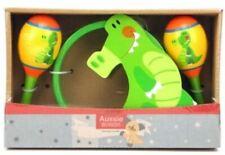 Crocodile Maraca & Tambourine Wooden Set Children's Toy