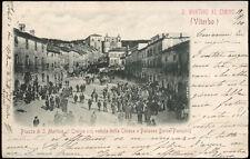 cartolina SAN MARTINO AL CIMINO piazza di..con veduta della chiesa..