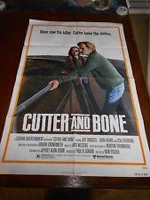 CUTTER AND BONE (1981)  JEFF BRIDGES ORIGINAL ONE SHEET POSTER