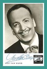 LOU VAN BURG | Sänger | Original-Autogramm auf Electrola-Autogrammkarte