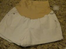 NEW a:glow Womens Maternity Shorts White Boyfriend Denim Size 16 MSRP $44