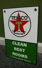 Texaco Rest Room Motor Oil gas gasoline sign