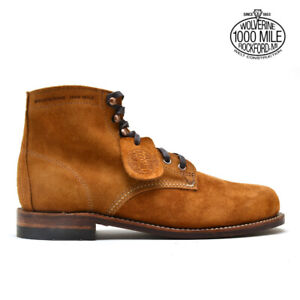 NEW | WOLVERINE 1000 MILE SUEDE BOOTS AMBER CAMEL BROWN 11.5 12