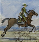 Australian Light Horse Beersheba charge  RARE original pen & ink +watercolour