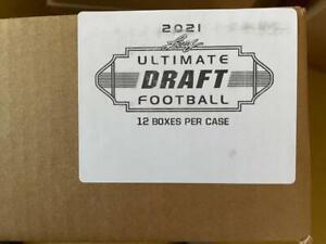 2021 Leaf Ultimate Draft Football Factory Sealed 12 Box Case