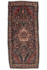Vintage Oriental Malayer Rug, 5'x10', Blue/Ivory, Hand-Knotted Wool Pile