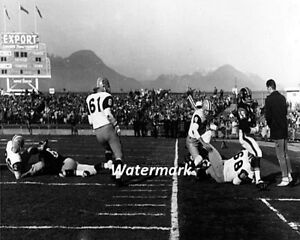 CFL 63 Grey Cup Ti Cats Angelo Mosca Tackles Lions Willie Fleming 8 X 10 Photo