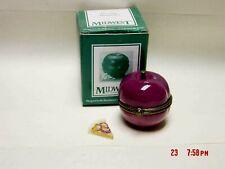 Phb Midwest Purple Plum Trinket Box W/ Slice Of Pie Trinket