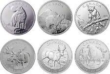 Canada Wildlife Series Complete 1oz 9999 Fine Silver Set