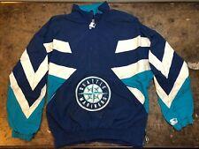 Seattle Mariners Starter Jacket Vintage 90s Patch MLB Baseball Coat Size Large