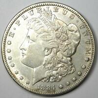 1884-S Morgan Silver Dollar $1 - AU Details - Rare Date this Sharp!