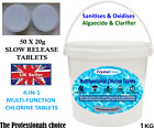 Multifunctional Chlorine Tablets for Hot Tub Spa Swimming Pools 20g tablets
