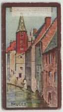 Bruges Belgium Tour des Halles Canals Houses 1920s Ad Trade Card