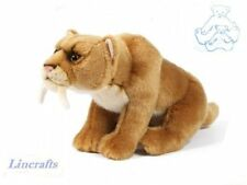 Sabre Tooth Tiger Plush Soft Toy by Living Nature.30cm AN395