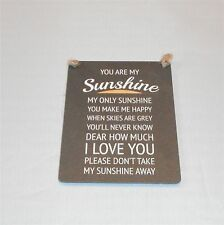 You Are My Sunshine Mini Metal Retro Hanging Plaque Sign Home Decor Valentines